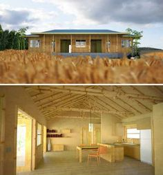 Want a bamboo home of your own? A company called Bamboo Living provides prefab bamboo house kits in modern styles including 'Zen Style Home', a minimalist one-story design with a large front porch. Bamboo Living Homes are ICC-ES certified and have sold over 150 such structures, which have been assembled all over the world. They also build custom designs and larger eco-villages and developments.
