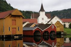 Boathouses - Feda in Kvinesdal, Norway Denmark Facts, Holidays In Norway, Iceland Island, Beautiful Norway, Summer Scenes, Finland, Places To Go, Architecture, Sweden