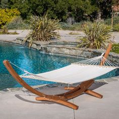 Christopher Knight Home Grand Cayman Hammock With a Larch Wood Frame, Quality. Outdoor Hammock, Hammock Swing, Indoor Outdoor, Outdoor Decor, Outdoor Ideas, Backyard Hammock, Hammock With Stand, Hammock Frame, Outdoor Daybed