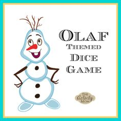 FREE, Printable Olaf Themed Dice Game