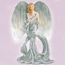 Thomas Kinkade Ladies & Angels | Devine Touch of Tranquility Angel Figurine - Angels of Healing