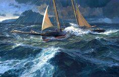 Russ Kramer. CORONET Around Cape Horn, 1888. J. Russell Jinishian Gallery, Inc.