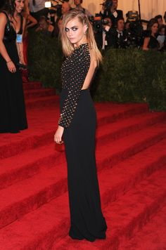 Cara Delevingne - Red Carpet Arrivals at the Met Gala