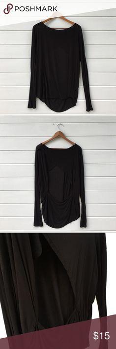 Brandy Melville   Open Back Top Stretchy, slinky open back top! Brandy Melville Tops Tees - Long Sleeve