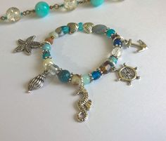 Beach-y themed bracelet. #beads #charms #jewelry #handmade #unique
