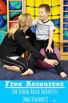 Free Resources For School Based Therapists (And Teachers!)  Great movement and organization freebies for school based therapists and some that teachers could use in their own classrooms!- Pink Oatmeal