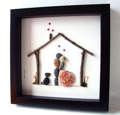 Unique House Warming Gift Family of Two and Dog by MedhaRode