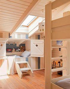 built-in kids beds