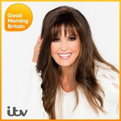 Marie Osmond Hot, Good Morning Britain, The Osmonds, Long Layered Hair, Bangs, My Hair, Hair Color, Curly, Beautiful Women