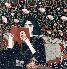 Reading by Yelena Bryksenkova. I love these bookish paintings!