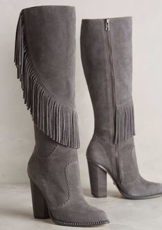 889a8d8b956 Cynthia Vincent Fringe-Swept Boots  anthroregistry Fringe Boots