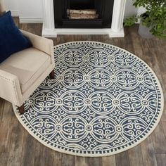 Shop for Safavieh Handmade Cambridge Myrtis Modern Moroccan Wool Rug. Get free delivery On EVERYTHING* Overstock - Your Online Home Decor Store! Get in rewards with Club O! Navy Blue Decor, Kids Area Rugs, Where To Buy Carpet, Modern Moroccan, Cheap Carpet Runners, Cool Rugs, Patterned Carpet, Retro Home Decor, Large Rugs