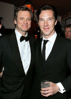Colin Firth and Benedict Cumberbatch    My favorite actors in one picture: <3 tinker, tailor, soldier, spy