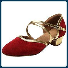 LvYuan-ggx Femme Chaussures à Talons Confort Polyuréthane Printemps Décontracté Rouge Rose Plat , ruby , us4-4.5 / eu34 / uk2-2.5 / cn33