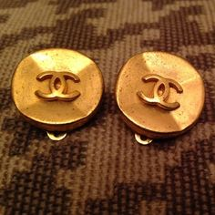 Vintage Chanel Clip On Earrings Absolutely Fabulous Condition Authentic Ons
