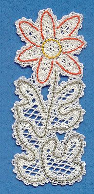 Daisy Bookmark (Battenburg Lace) || Machine Embroidery Designs at Embroidery Library! -