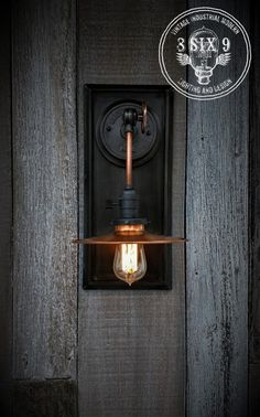 Industrial Copper Metal Shaded Wall Sconce Engine House Wall Sconce, Indus… - All For Light İdeas Edison Lighting, Copper Lighting, Wall Sconce Lighting, Wall Sconces, Wall Lamps, Pendant Lighting, Industrial Light Fixtures, Industrial Lighting, Vintage Lighting