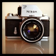 """A mint Nikon F from about 1972."" My late photographer father had an original one of these."