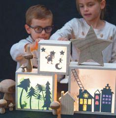 Creacorner | Mon petit théatre d'ombres Projects For Kids, Diy For Kids, Craft Projects, Crafts For Kids, Diorama Kids, Shadow Theatre, Puppet Theatre, Diy Pour Enfants, Ramadan Activities