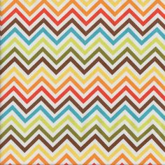 Multi Coloured Chevron Quilting Fabric