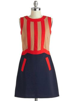 Could be a cute fall office look with tights. Playing Tagline Dress, #ModCloth