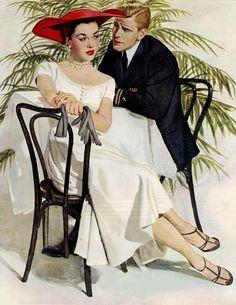 Maxwell Whitmore 1913-1988 | American Fashion painter and Magazine illustrator | Tutt'Art@ | Pittura * Scultura * Poesia * Musica |