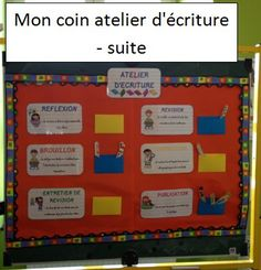 Petit tour de ma classe French Articles, French Resources, Teaching Strategies, Teaching Writing, Cycle 3, Daily 5, School Organization, French Language, Educational Activities