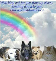 Watching out for you from up above, Sending down to you, Our unconditional love.