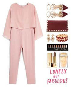 """Untitled #1038"" by winnnna ❤ liked on Polyvore featuring Valentino, MANGO, Pasquale Bruni, Forever 21, Yves Saint Laurent and Hartmann"