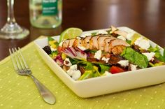 Grilled Chicken Salad with Creamy Avocado Lime Dressing sevyjj