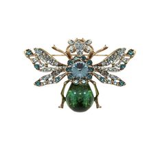 Spread your wings with this bejeweled beetle. Use this #emerald brooch in new ways-- to fasten a scarf, on a belt, or even on your purse! ((Send the Trend Beetle Brooch))