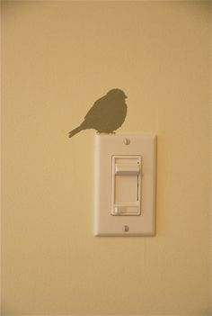 Decoration lights: meisjeskamer: vogeltje uitsnijden en plaatsen aan een stopcontact!