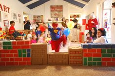 Super Hero Party Obstacle Course - This would be fun anytime? Who needs a party?