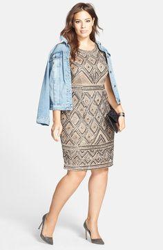Beaded Sheath Dress (Plus Size)