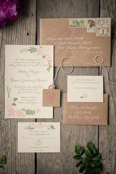 Wedding Invitations - They SO set the stage for the wedding. See the full wedding here: http://stylemepretty.com/2013/08/13/pennsylvania-vintage-wedding-from-the-wedding-artists-collective/