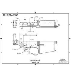 DPMS 308 Blueprints for .308 80% Lower Receiver Builds