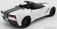 MAISTO 32501 Skala: 1/24  CHEVROLET CORVETTE SPIDER STINGRAY CUSTOM 2014 WHITE…