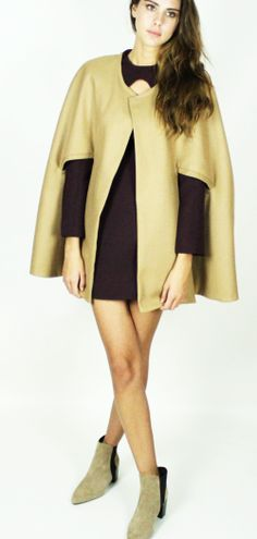 Kirsty Doyle/Kayleigh Cashmere blend Cape #aw13