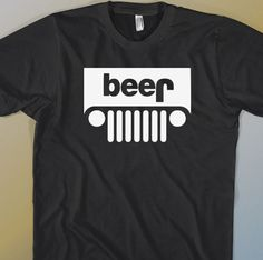 BEER JEEP Parody T-SHIRT Funny Tshirt Shirt Dad Gift Drinking Party Tee Black #Handmade #GraphicTee