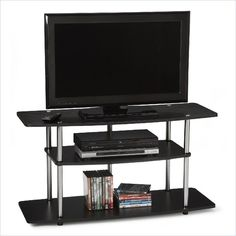Convenience Concepts Designs2Go™ Wide 3-Tier TV Stand in Black - R5-100 - Lowest price online on all Convenience Concepts Designs2Go™ Wide 3-Tier TV Stand in Black - R5-100