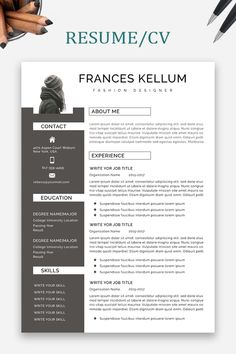 Resume Word | CV Template + Cover Letter | Compact resume | CV