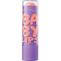 Maybelline Baby Lips Moisturizing Lip Balm-Peach Kiss:  THE PEACH/NUDE LIP Balm! AMAZING!