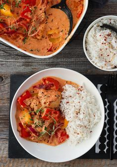 Sugar And Spice, Thai Red Curry, Chili, Chicken Recipes, Bacon, Spices, Food And Drink, Favorite Recipes, Dinner