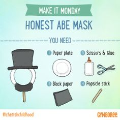 This Presidents Day, teach them about Abraham Lincoln as you make this fun mask!
