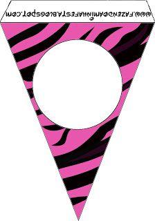Zebra Pink Fundo Limpo - Kit Completo com molduras para convites, rótulos para guloseimas, lembrancinhas e imagens! - Fazendo a Nossa Festa