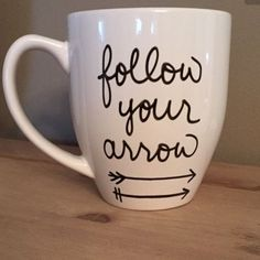 Follow ur arrow coffee mugs Please know:: EACH mug u see in the pics will LOOK AS CLOSE AS POSSIBLE to the mug you receive in the mail! Please note: you are paying for the design; not the mug:) I out A TON of love and dedication into each and every mug that is ordered! Also, I ship out as soon as I get your mug! I do buy each mug plain and craft myself! Reminder, it is the holidays so I am crammed with other ordered mugs!!✨☕️ Other