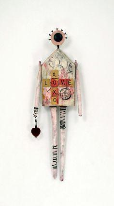 Art Doll Love par Indiandollartworks sur Etsy, $140.00