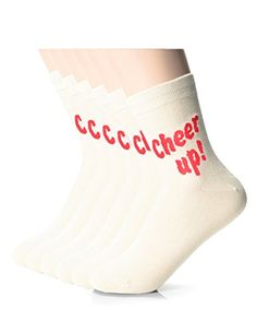 FLATSEVEN Womens Fashion Solid Funny Athletic Socks XW1001M Ivory 6EA *** Details can be found by clicking on the image.