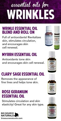 Revitalize your skin, encourage skin cell renewal, and smooth out wrinkles with these essential oils and blends. #aromatherapy