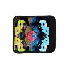 "Suzanne Carter ""Kimono Girl"" Yellow Blue Luggage Handle Wrap"